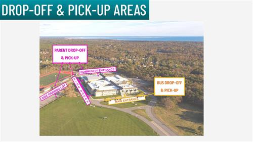 Map of MRHS Drop off and pick up areas