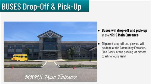 MRHS Bus drop off and pick up location