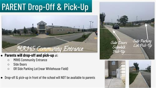 MRHS Parent drop off and pick up location